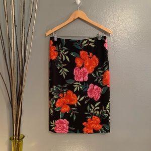 Express Floral skirt size 10